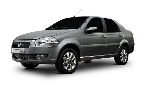 O Fiat Siena, nas versões acima de 1.0, obteve índice de roubo e furto de 1,473%