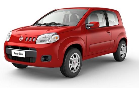 O Fiat Uno obteve índice de roubo e furto de 1,556%