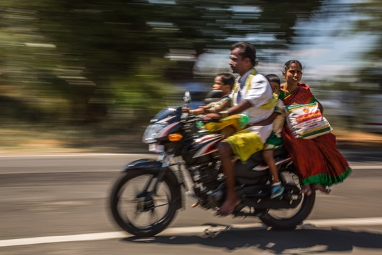 O confuso trânsito indiano