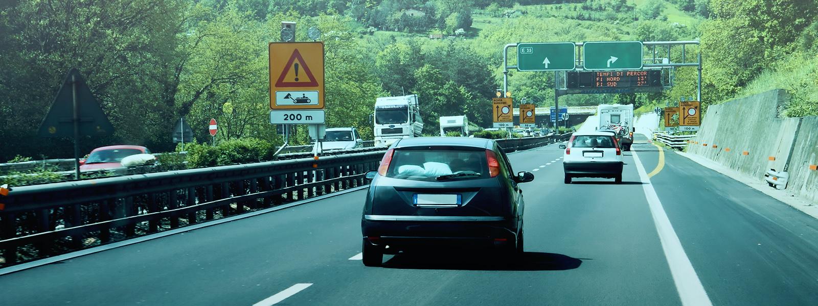 O trânsito na Itália