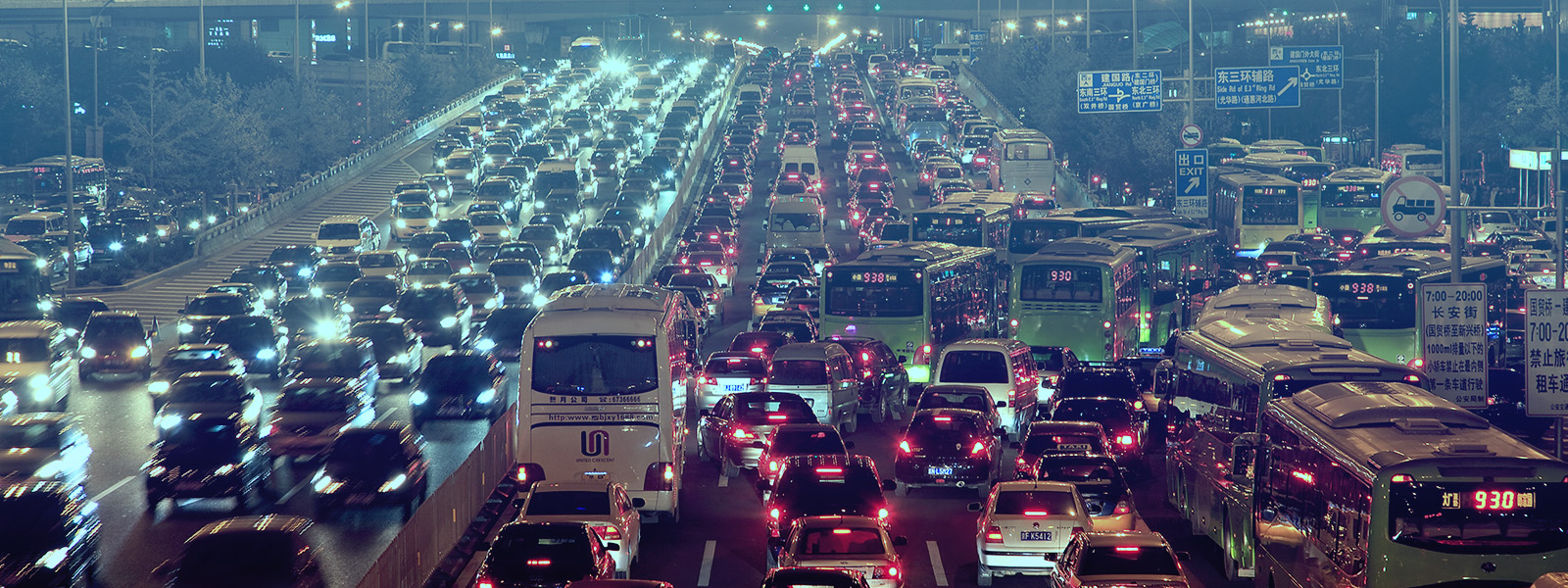 O trânsito na China