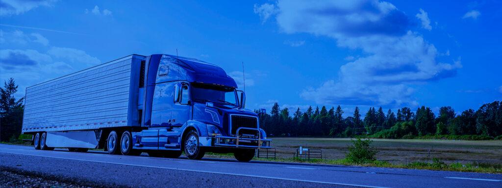Caminhão mantendo a direção defensiva